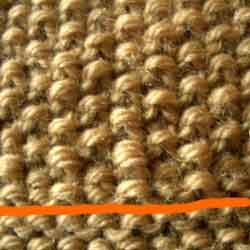 かのこ編みとガーター編み
